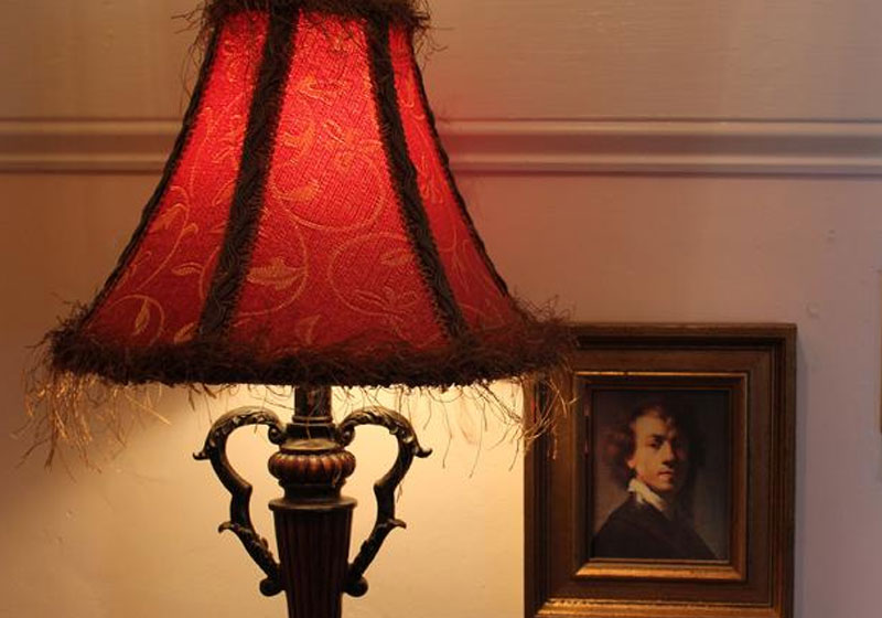 Lamp and Picture Portrait | Captain David Kelley House in Cape Cod Massachusetts