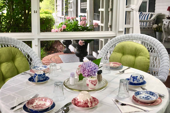 Breakfast Porch | Captain David Kelley House, Centerville, MA