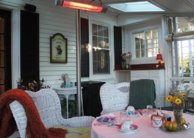 Breakfast Porch | Captain David Kelley House in Cape Cod Massachusetts