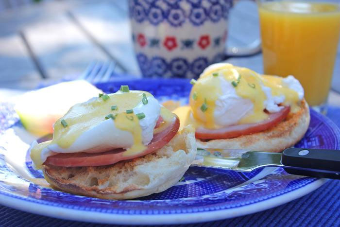 Eggs Benedict with Key Lime Hollandaise | Captain David Kelley House in Cape Cod Massachusetts