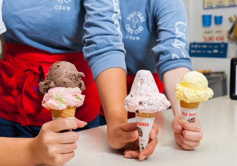 Four Seas Ice Cream | Captain David Kelley House, Centerville, MA