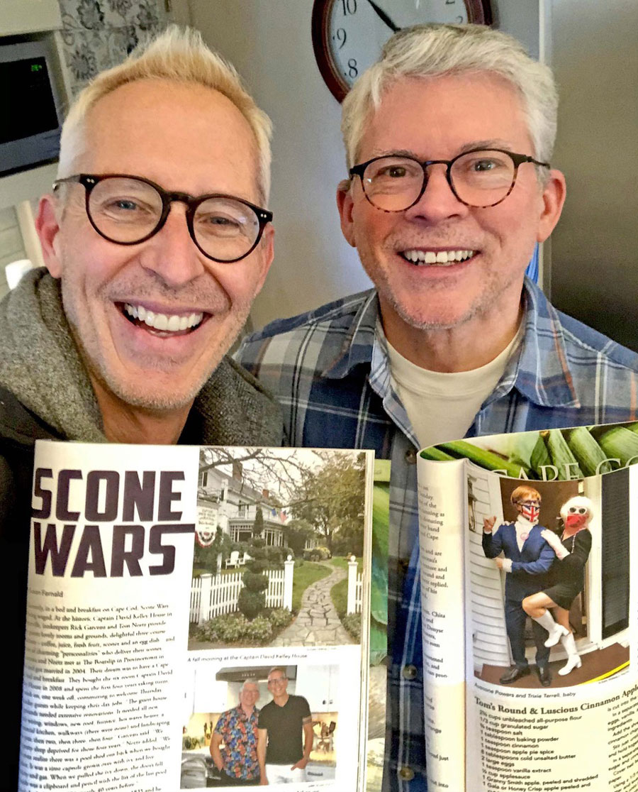 SCONE WARS: Captain David Kelley House featured in Edible Cape Cod magazine